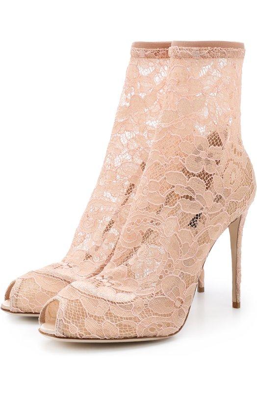 Кружевные ботильоны Bette на шпильке Dolce & Gabbana