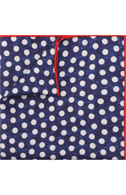 Купить Шелковый платок с узором Kiton, UP0CHCX07P9323005, Италия, Синий, Шелк: 100%;