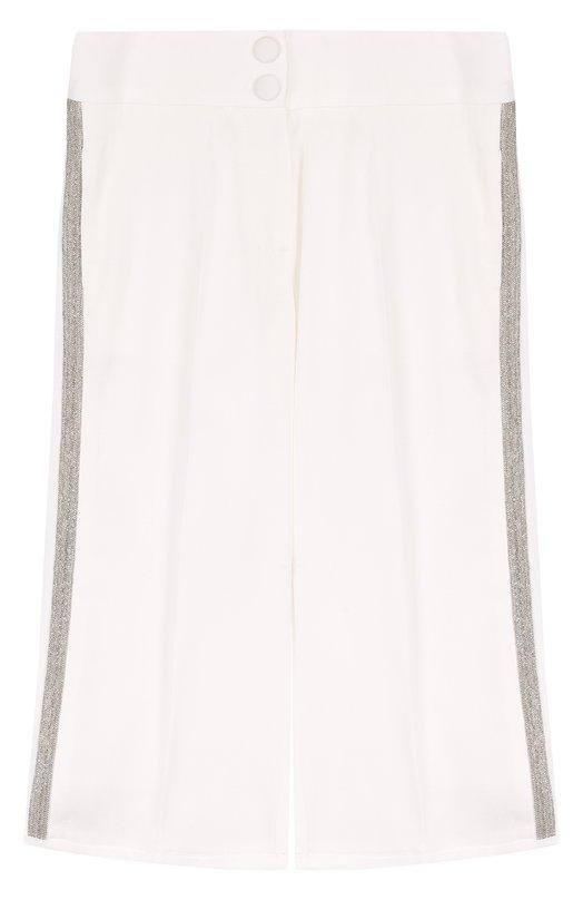 Укороченные брюки с лампасами Monnalisa