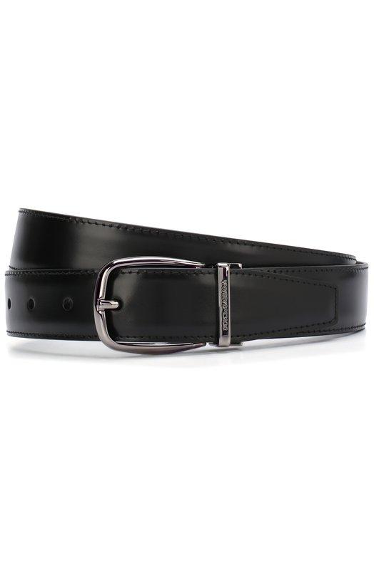 Купить Кожаный ремень с металлической пряжкой Dolce & Gabbana, BC4108/A1607, Италия, Черный, Кожа натуральная: 100%; Пряжка-мет.сплав: 100%;