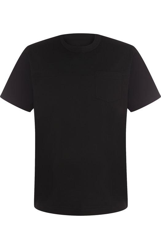 Купить Хлопковая футболка с круглым вырезом Sacai, 18-01657M, Япония, Черный, Хлопок: 100%;