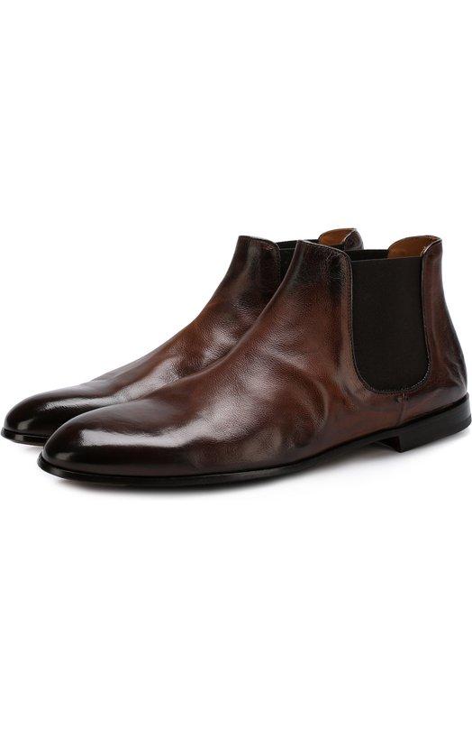 Купить Классические кожаные челси Doucal's, DU1204PANAUF036TM04, Италия, Коричневый, Кожа натуральная: 100%; Стелька-кожа: 100%; Подошва-кожа: 100%; Подошва-резина: 100%;