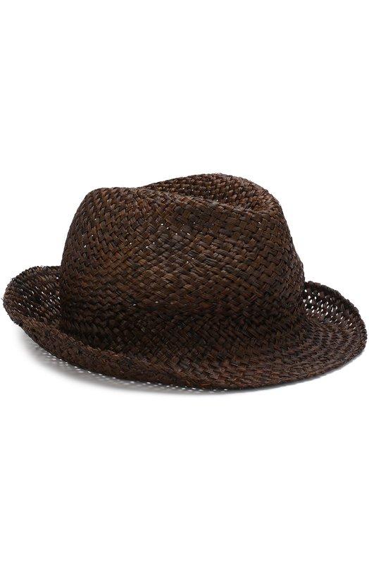 Купить Соломенная шляпа с аппликацией Isabel Benenato, UA24S18, Италия, Черный, Соломка: 100%;