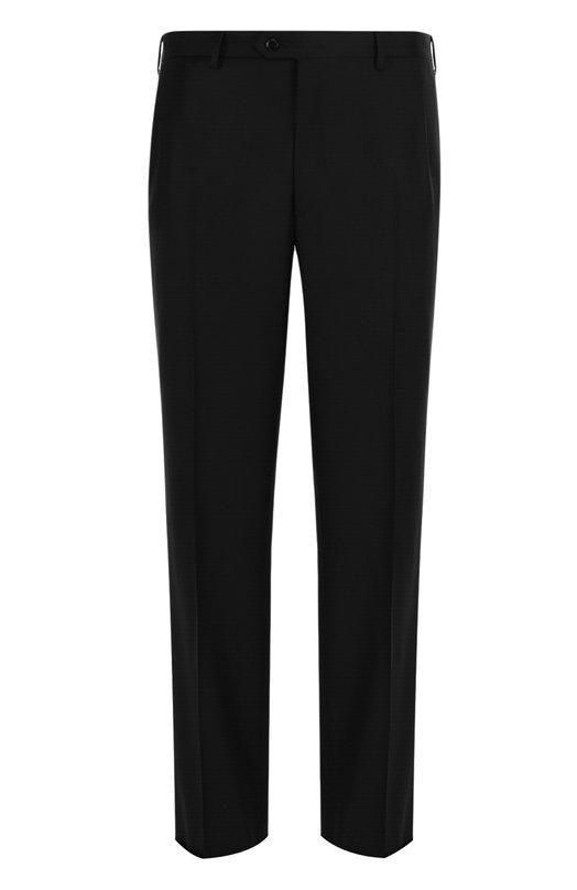 Купить Шерстяные брюки прямого кроя Brioni, RPL210/P3AE0/M0ENA, Италия, Черный, Шерсть: 80%; Мохер: 20%; Подкладка-купра: 100%;