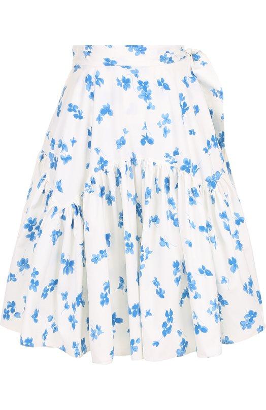 Хлопковая юбка-миди с цветочным принтом Ralph Lauren Ralph Lauren