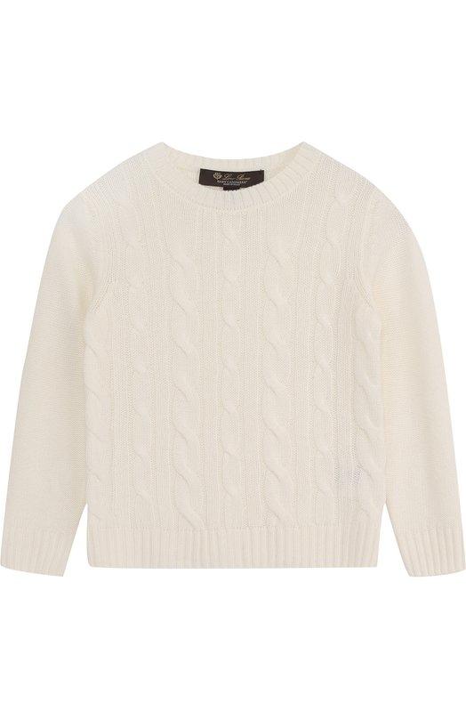 Купить Кашемировый пуловер фактурной вязки Loro Piana, FAI1207, Италия, Белый, Кашемир: 100%;