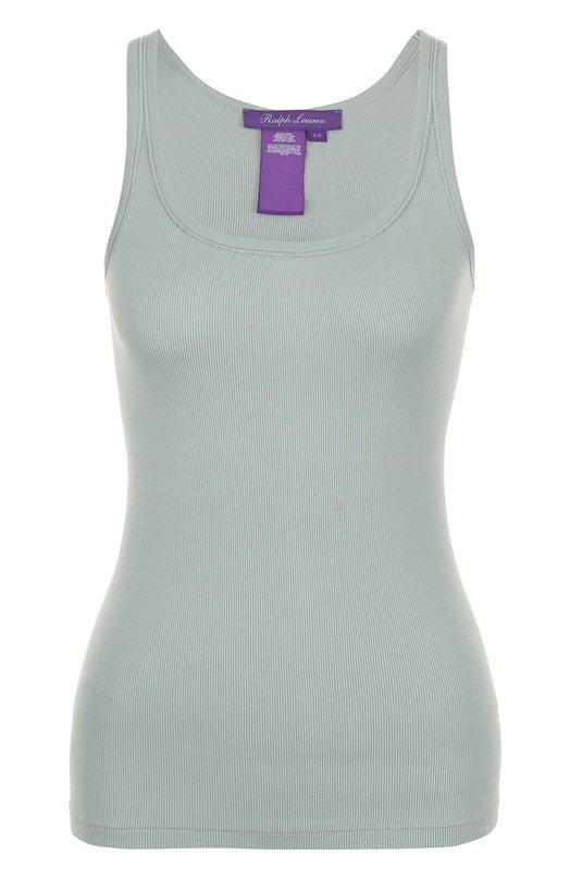 Купить Приталенный хлопковый топ без рукавов Ralph Lauren, 290625675, Китай, Светло-зеленый, Хлопок: 100%;