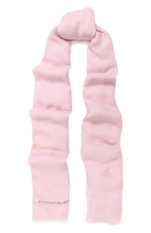 Купить Шарф из вискозы Emporio Armani, 635286/8P321, Италия, Розовый, Вискоза: 100%;