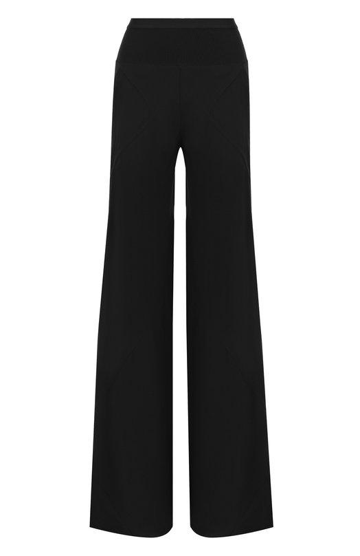 Купить Однотонные расклешенные брюки с карманами Rick Owens, RP18S8301/Y, Италия, Черный, Вискоза: 84%; Хлопок: 70%; Полиамид: 30%; Ацетат: 16%;