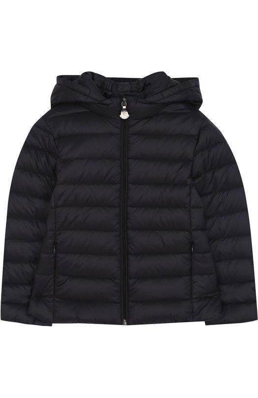 Купить Пуховая куртка с капюшоном Moncler Enfant, D1-954-46810-99-53048/4-6A, Армения, Синий, Пух: 90%; Подкладка-полиамид: 100%; Полиамид: 100%; Перо: 10%;