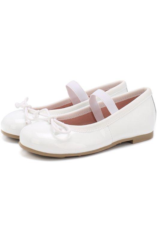 Купить Лаковые балетки с бантами и перемычкой Pretty Ballerinas, 39.270/9.031/SHADE, Испания, Белый, Кожа натуральная: 90%; Стелька-кожа: 100%; Подошва-резина: 100%; Текстиль: 10%;