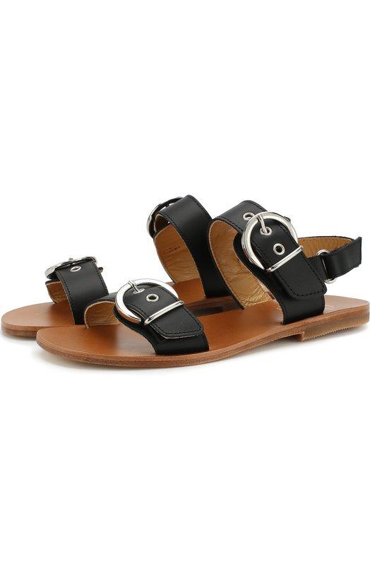 Купить Кожаные сандалии с ремешками Gallucci, J10024AT073999-, Италия, Черный, Кожа натуральная: 100%; Стелька-кожа: 100%; Подошва-кожа: 100%; Подошва-резина: 100%;