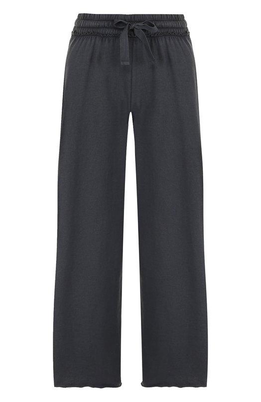 Купить Хлопковые расклешенные брюки с эластичным поясом Deha, B74128, Румыния, Черный, Хлопок: 100%;
