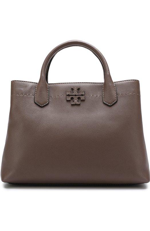 Купить Сумка McGraw Tory Burch, 40405, Индия, Серый, Кожа натуральная: 100%;