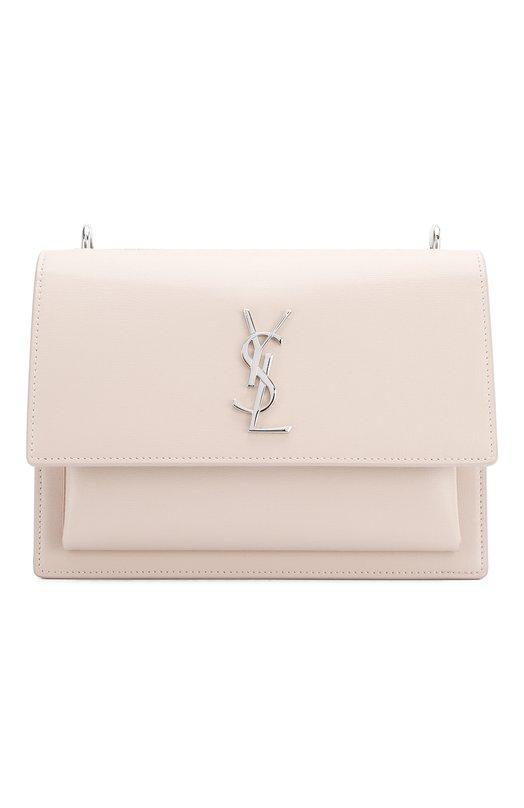 Купить Сумка Sunset Monogram medium Saint Laurent, 442906/D420N, Италия, Светло-розовый, Кожа натуральная: 100%;