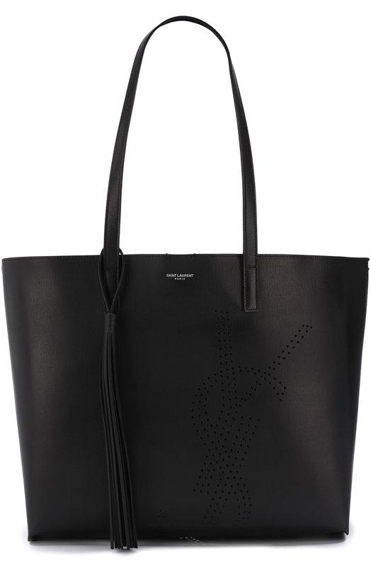 Купить Сумка-тоут Shopping large Saint Laurent, 509233/0JB1E, Италия, Черный, Кожа натуральная: 100%;