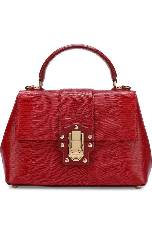Купить Сумка Lucia Dolce & Gabbana, BB6312/A1095, Италия, Красный, Кожа натуральная: 100%;