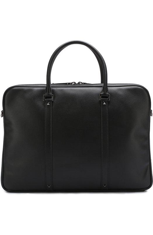Купить Кожаная сумка для ноутбука Valentino Garavani с плечевым ремнем Valentino, PY2B0636/VH3, Италия, Черный, Кожа натуральная: 100%;