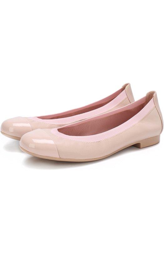 Купить Кожаные балетки с лаковым мысом Pretty Ballerinas, 37.190/7.001/SHADE/C0T0N, Испания, Розовый, Кожа натуральная: 100%; Стелька-кожа: 100%; Подошва-резина: 100%; Подкладка-кожа: 100%; Кожа: 100%;