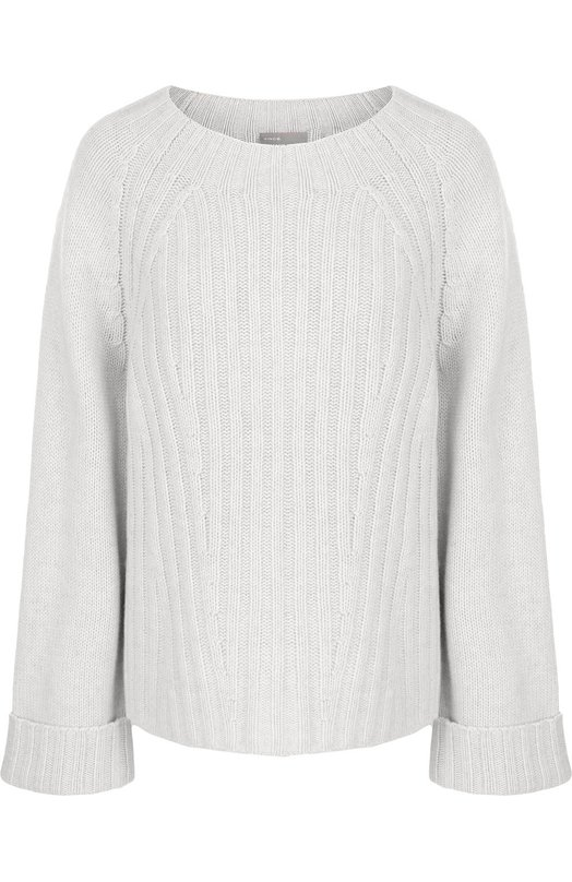 Купить Пуловер свободного кроя из смеси шерсти и кашемира Vince, V469077722, Китай, Серый, Шерсть: 70%; Кашемир: 30%;