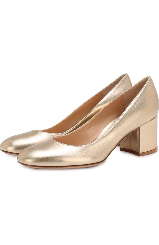Туфли Gilda из металлизированной кожи на устойчивом каблуке Gianvito Rossi Gianvito Rossi