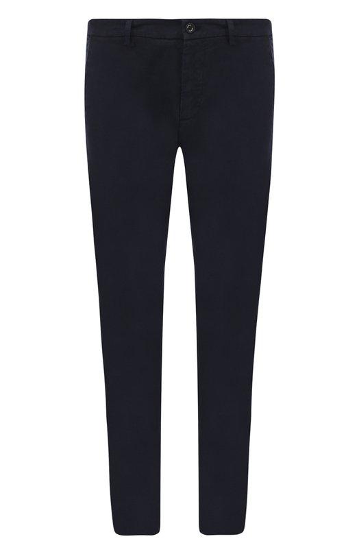 Купить Хлопковые брюки прямого кроя Iceberg, 18E I1P0/B010/6311/B171/0230, Италия, Темно-синий, Хлопок: 98%; Эластан: 2%;