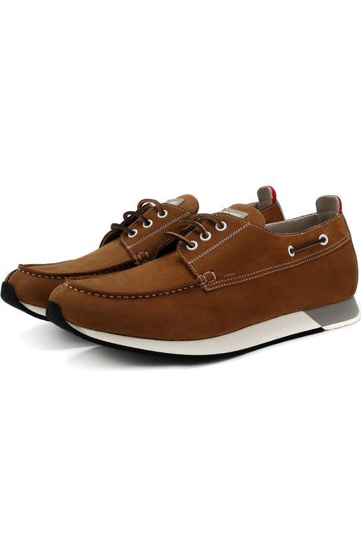 Замшевые кроссовки на шнуровке Kiton