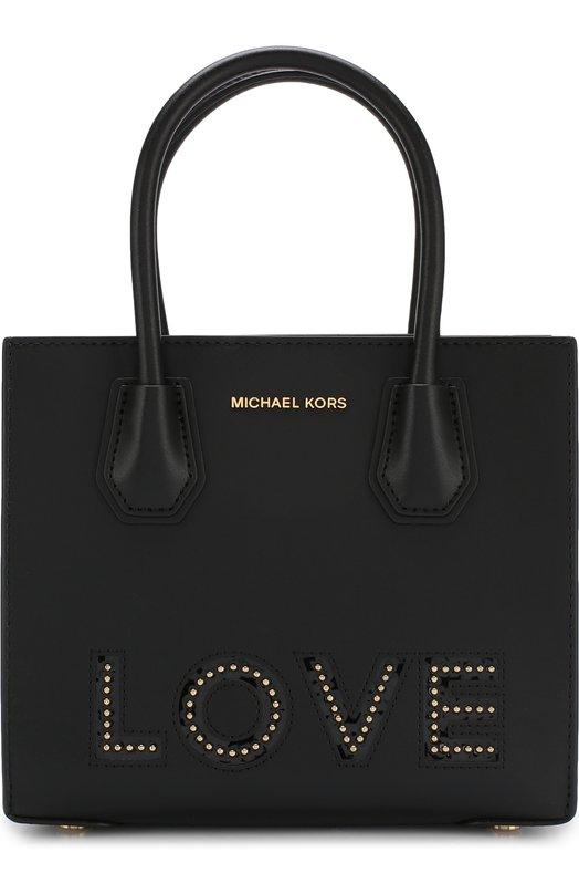 Купить Сумка Mercer MICHAEL Michael Kors, 30H7GM9M60, Вьетнам, Черный, Кожа натуральная: 100%;