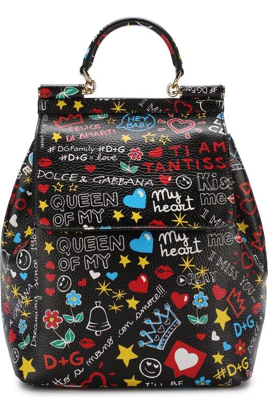 Купить Рюкзак Sicily Dolce & Gabbana, BB6036/AS176, Италия, Черный, Кожа натуральная: 100%;
