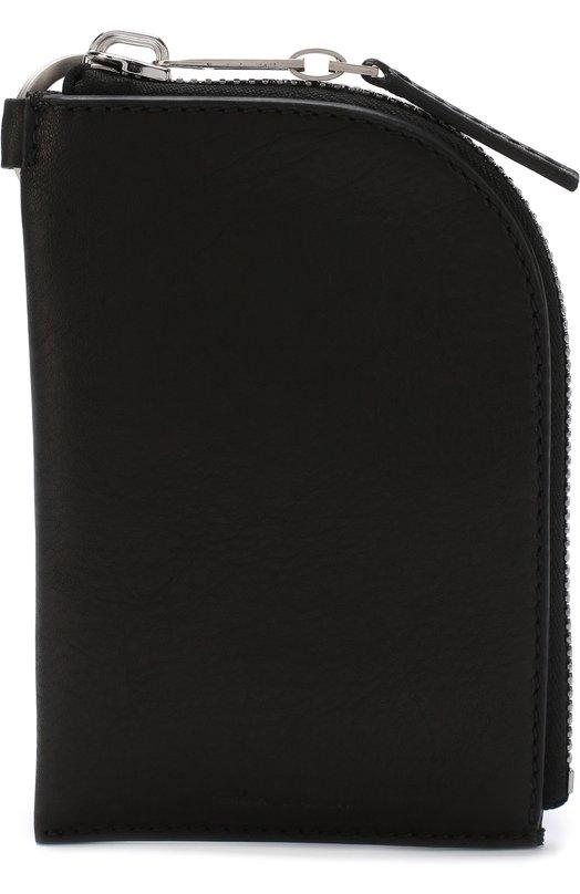 Купить Кожаное портмоне на молнии Rick Owens, RB18S0103/LCW, Италия, Черный, Кожа натуральная: 100%;