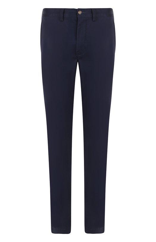 Купить Хлопковые брюки Polo Ralph Lauren, 710704176, Шри-Ланка, Темно-синий, Хлопок: 97%; Эластан: 3%;