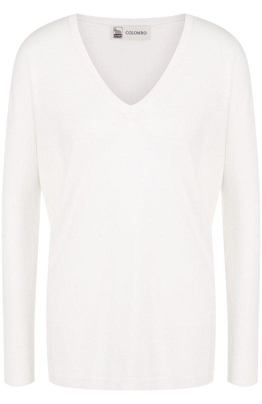 Купить Пуловер свободного кроя из смеси кашемира и шелка Colombo, MA02735/-/2-56JA, Италия, Белый, Кашемир: 70%; Шелк: 30%;