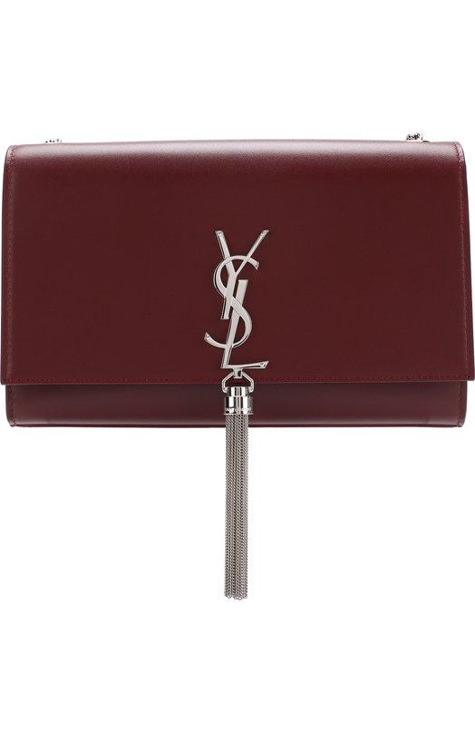 Купить Сумка Monogram medium на цепочке Saint Laurent, 354119/C150N, Италия, Красный, Кожа натуральная: 100%;