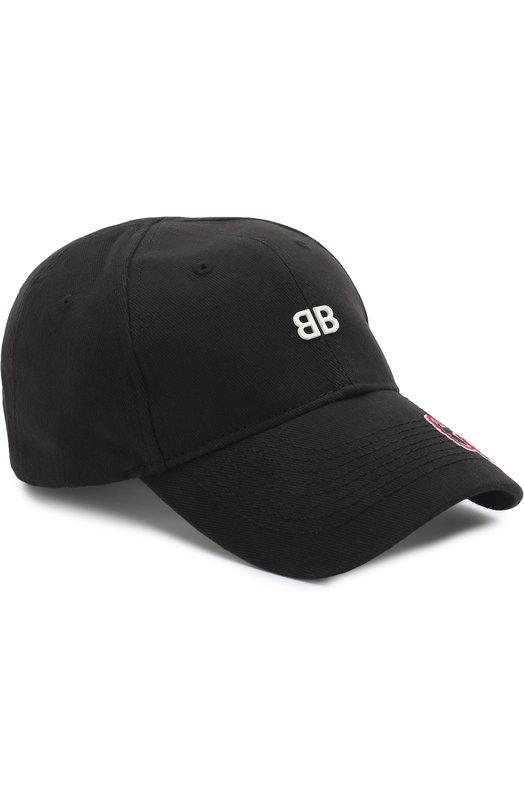 Купить Хлопковая бейсболка BB Europe 2018 Balenciaga, 506241/410B7, Китай, Черный, Хлопок: 100%; Подкладка-хлопок: 100%;