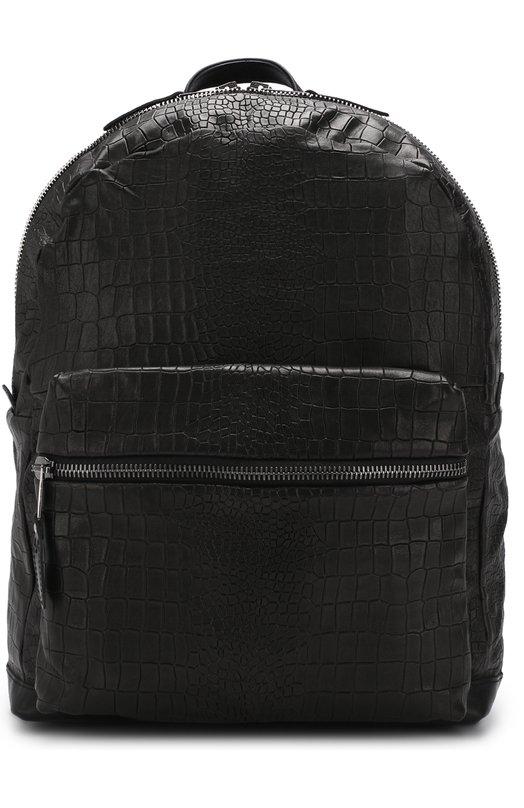 Купить Кожаный рюкзак с тиснением Giorgio Brato, BS18S2700BURN, Италия, Черный, Кожа натуральная: 100%;