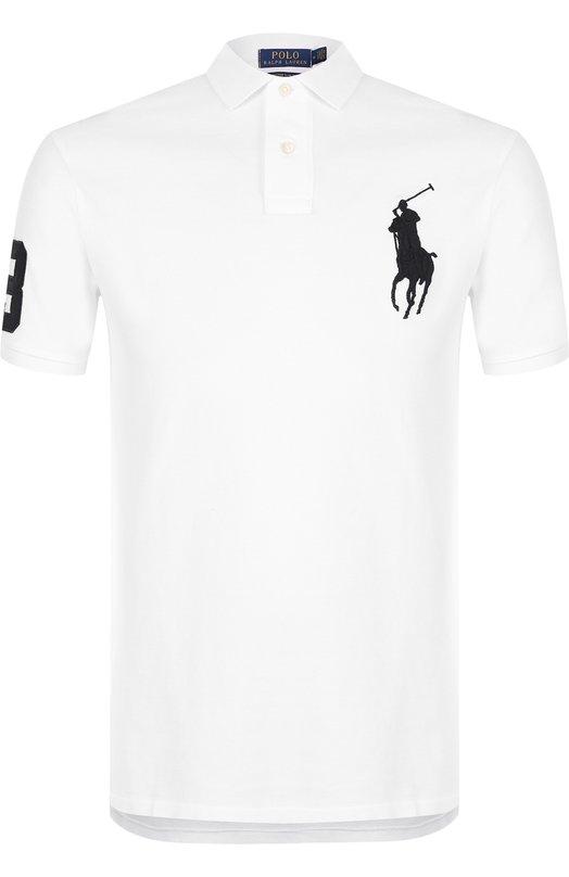 Купить Хлопковое поло Polo Ralph Lauren, 710688969, Вьетнам, Белый, Хлопок: 100%;