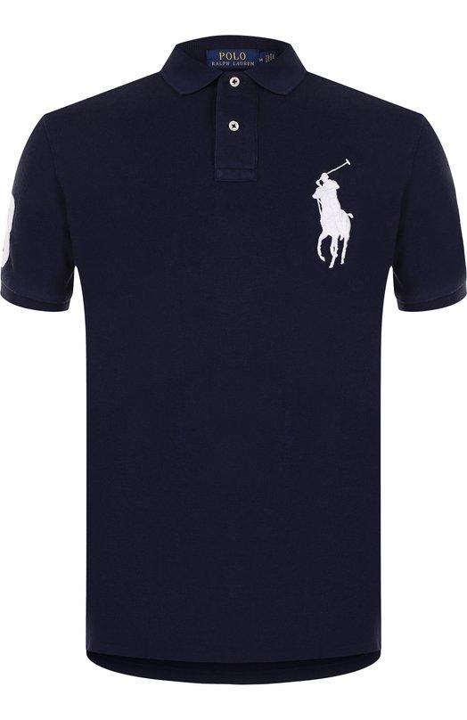Купить Хлопковое поло Polo Ralph Lauren, 710688969, Вьетнам, Темно-синий, Хлопок: 100%;