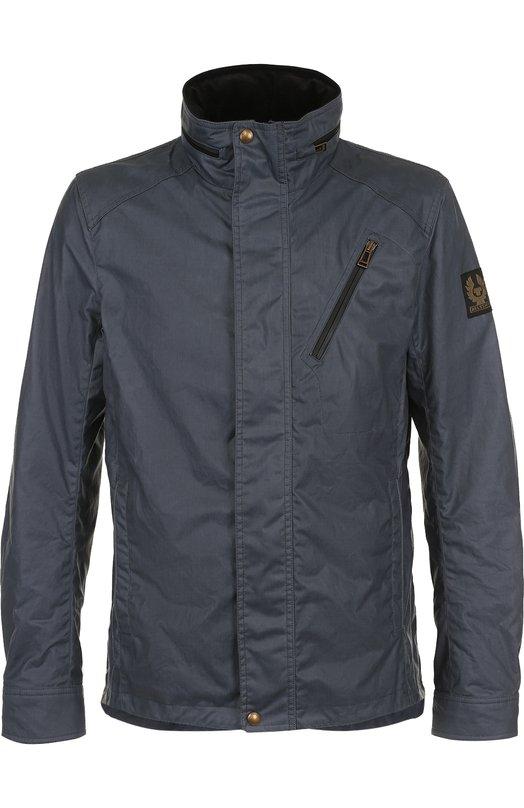 Купить Хлопковая куртка на молнии с воротником-стойкой Belstaff, 71030125/C61N0158, Румыния, Синий, Хлопок: 100%; Подкладка-хлопок: 100%;
