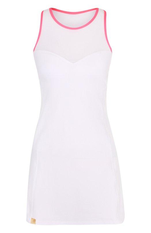 Купить Приталенное спортивное мини-платье Monreal London, 1117401.146/20, Литва, Белый, Полиамид: 71%; Отделка-полиамид: 66%; Отделка-эластан: 34%; Эластан: 29%;