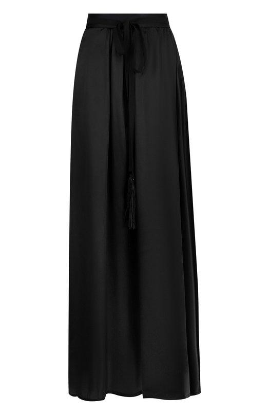 Однотонная юбка-макси из шелка Ann Demeulemeester Ann Demeulemeester
