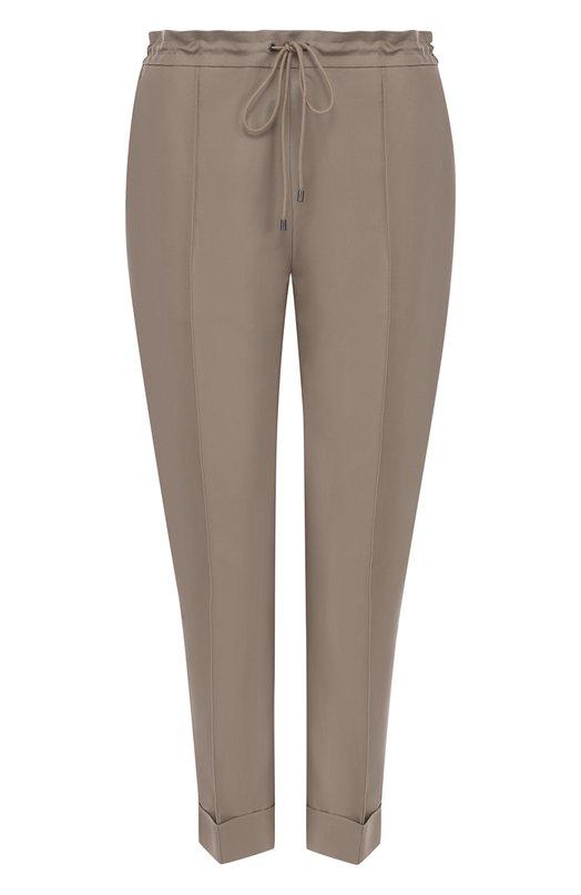 Купить Укороченные однотонные брюки из смеси хлопка и льна Kenzo, 2PA1675AR, Словакия, Бежевый, Хлопок: 73%; Лен: 27%;