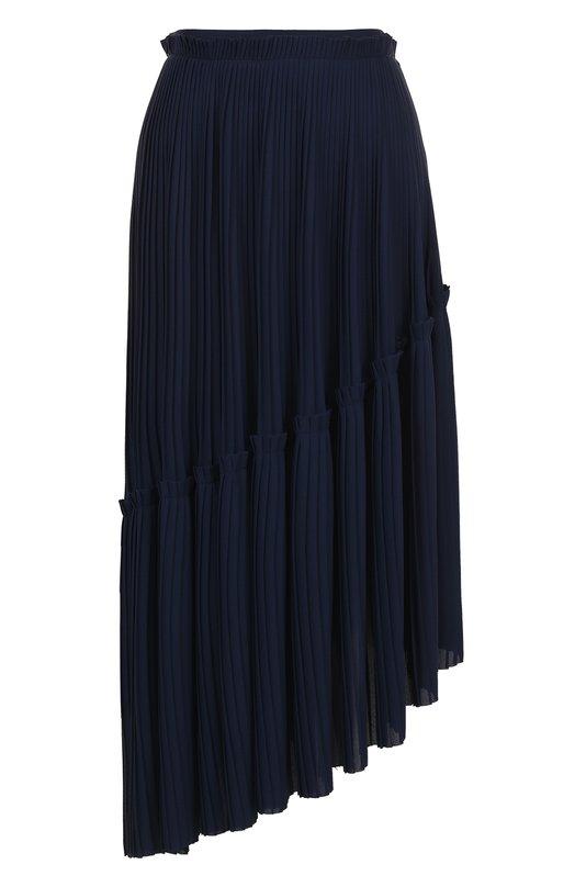 Купить Плиссированная асимметричная юбка-миди Kenzo, 2JU0645AF, Тунис, Синий, Полиэстер: 100%;