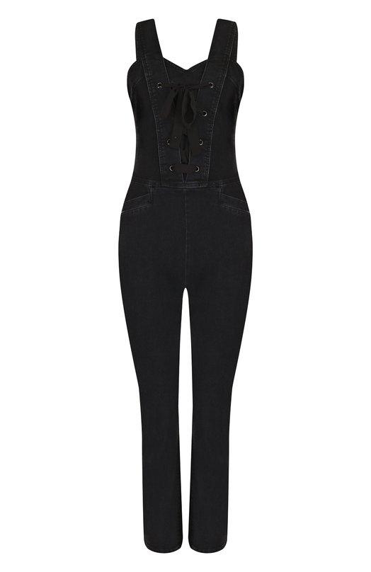 Приталенный джинсовый комбинезон с потертостями Paige Paige