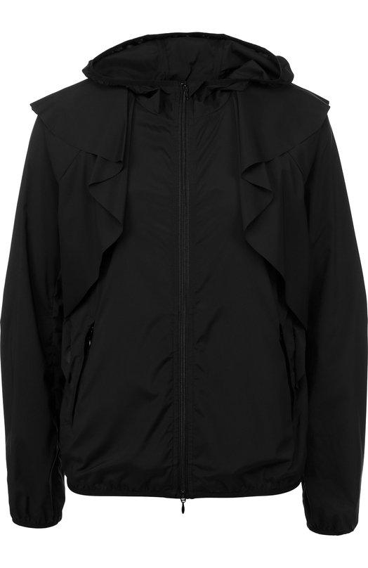 Купить Однотонная куртка на молнии с капюшоном REDVALENTINO, PR3CI0K5/3F8, Венгрия, Черный, Полиамид: 92%; Эластан: 8%;