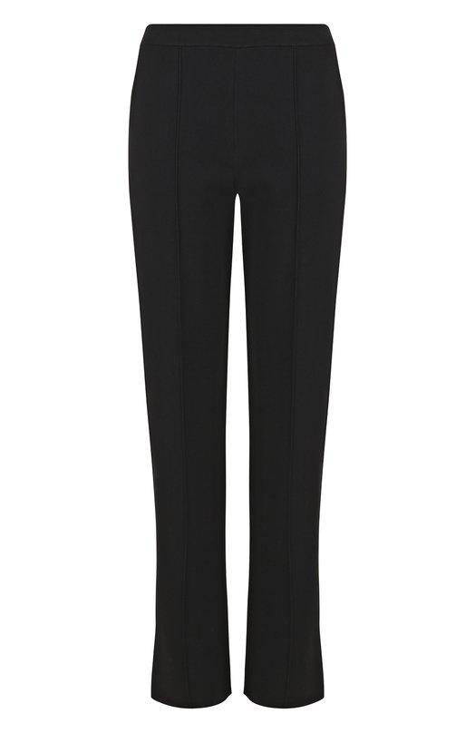 Купить Однотонные брюки прямого кроя из вискозы Valentino, PB0KF002/401, Италия, Черный, Вискоза: 83%; Полиэстер: 17%;