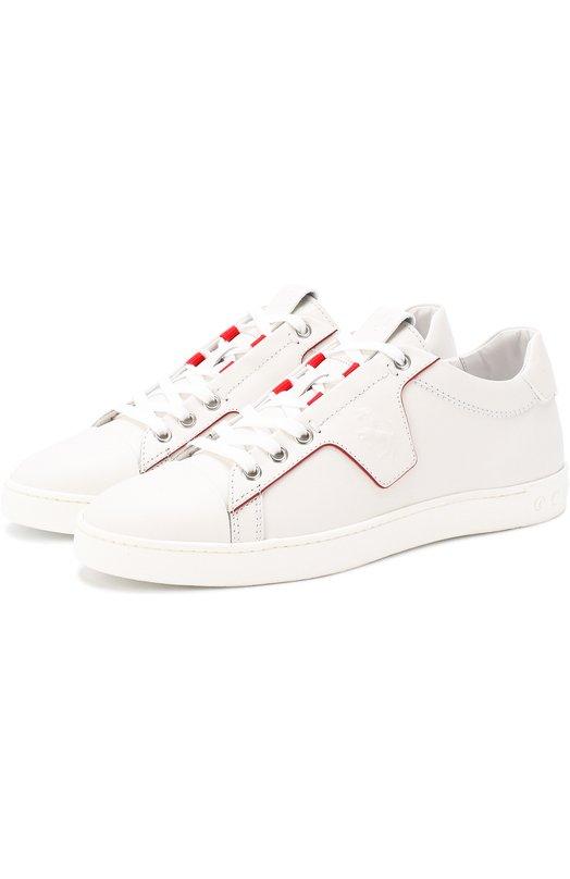 Купить Кожаные кеды на шнуровке Tod's, XRW12A0V38008VB001, Италия, Белый, Кожа натуральная: 100%; Стелька-кожа: 100%; Подошва-резина: 100%;