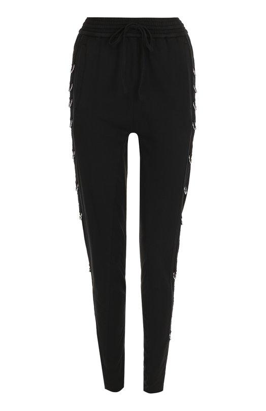Купить Однотонные хлопковые брюки-скинни Roque, RHPY750/1, Италия, Черный, Хлопок: 100%;