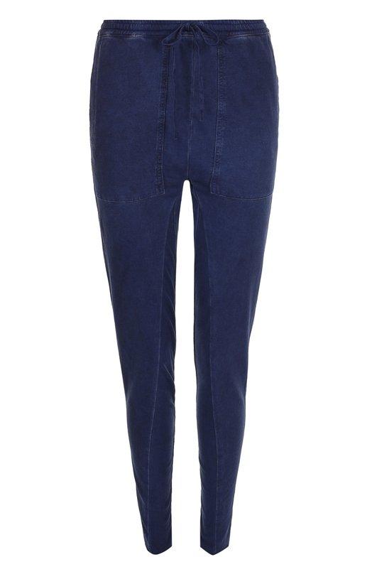 Купить Однотонные хлопковые брюки-скинни Roque, RHPY801/10, Италия, Темно-синий, Хлопок: 100%;