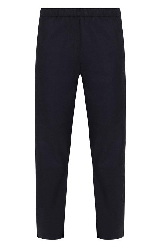 Купить Укороченные кожаные брюки прямого кроя DROMe, DPD1384/D1222, Италия, Темно-синий, Кожа натуральная: 100%; Подкладка-купра: 100%;