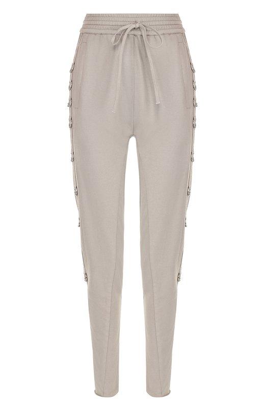 Купить Однотонные хлопковые брюки-скинни Roque, RHPY750/1, Италия, Серый, Хлопок: 100%;